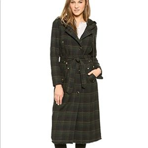 Free People Long Plaid Coat!